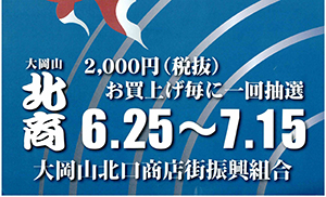 [大岡山] 2019年7月15日(月・祝)まで、大岡山北口商店街「中元福引大売出し」開催中