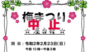[池上] 中止ー2020年2月23日(日)、池上地区まちおこしの会が、梅が見頃の池上梅園付近で「梅まつり」開催
