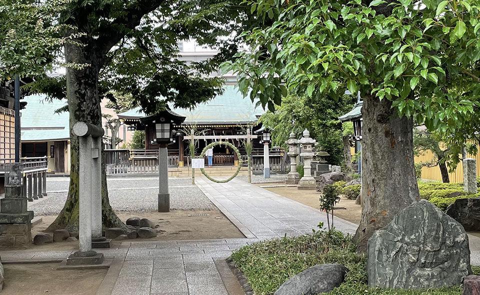夏越の大祓:茅の輪くぐりを実施している大田区内の神社 ⑤ 春日神社
